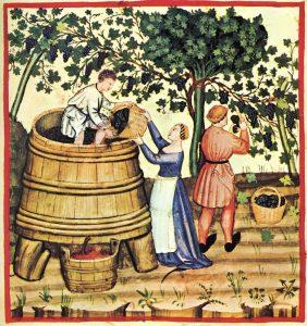 Autunno, Taccuino Sanitatis, Casanatense, XIV secolo.