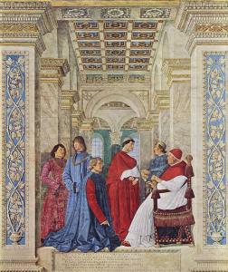 Paavi-Sikstus-IV-nimittaa-Platinan-Vatikaanin-kirjaston-konservaattoriksi.
